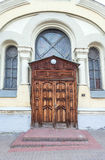 House with wooden door. Old house with wooden door Stock Photography