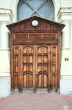 House with wooden door. Old house with wooden door Stock Images