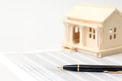 House wooden and pen Stock Images
