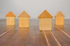 House wooden toy blocks Royalty Free Stock Photos