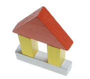 House wooden toy Royalty Free Stock Image