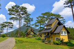 House in the woods. Binh An Village Resort, Dalat, Vietnam Royalty Free Stock Image