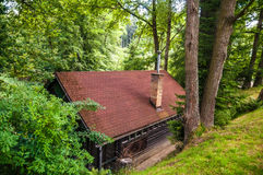 House in woods Royalty Free Stock Image