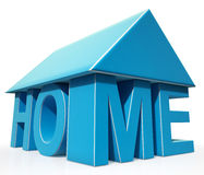 House Word Icon Shows House For Sale Royalty Free Stock Photos