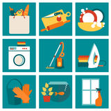 House work concept vector illustration Royalty Free Stock Photos