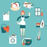 House work concept vector illustration Royalty Free Stock Images