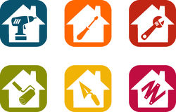 House, work and diy icon royalty free illustration