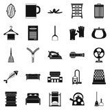 House work icons set, simple style. House work icons set. Simple set of 25 house work vector icons for web isolated on white background Royalty Free Stock Images