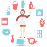 House work icons. Vector illustration.  Flat Stock Photography