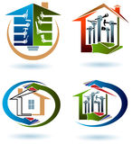 House work team. Logo design set with  white background Royalty Free Stock Images