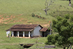House of worker in brazilian farm Stock Images