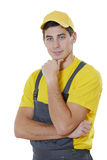 House worker portrait Royalty Free Stock Images