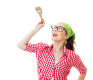 House worker woman Royalty Free Stock Photo