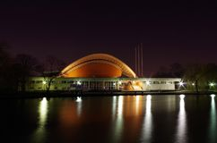 House of the world cultures in berlin at night Royalty Free Stock Photography