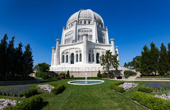 House of worship Bahai. Wilmette, Illinois - July 15, 2013 - House of worship Bahai, built in Persian architectural style. Was opened in 1953 royalty free stock photo
