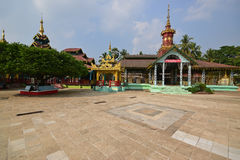 House of worship shrine at Shwemawdaw Pagoda with rest and empty space Royalty Free Stock Images