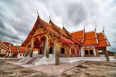 House of worship, Thai temple (HDR) Royalty Free Stock Image