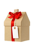 House wrapped in brown paper Stock Image