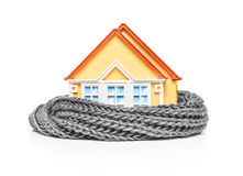 House wrapped in a scarf Stock Photo