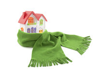 House wrapped in a scarf Royalty Free Stock Photography