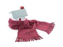 House wrapped in a scarf Royalty Free Stock Photo