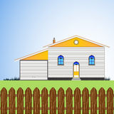 House with yard Stock Photography