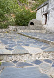 House yard with clay oven stock photos