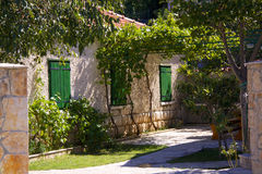 House yard in Croatia Stock Image