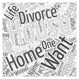 About the house in your name word cloud concept Royalty Free Stock Photo