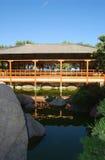House in zen garden. A tea house in a nice zen garden Royalty Free Stock Photo