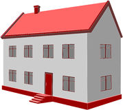 House05. Vector. 3d home in color 05 Royalty Free Stock Photography