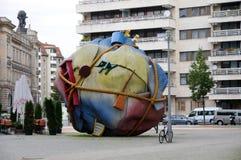 Houseball à la place Berlin de Bethlehemkirch Photo libre de droits