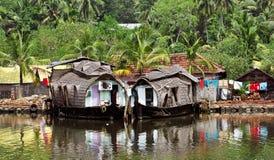 houseboat Ινδία Κεράλα Στοκ Εικόνα