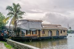 Houseboat μας σε Appelley Κεράλα, Ινδία στοκ εικόνες με δικαίωμα ελεύθερης χρήσης