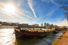 Houseboat του Σηκουάνα Στοκ Εικόνες