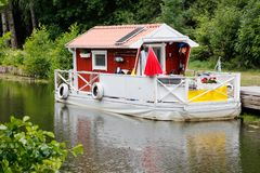 houseboat fotografia royalty free