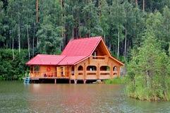 houseboat Arkivbild