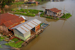 Houseboat. In the river, Thai culture, Thailand royalty free stock photos