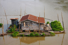 Houseboat. In the river, Thai culture, Thailand stock photography