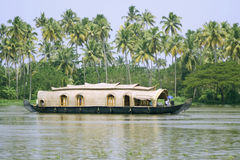 Houseboat. Cruise through the backwaters, kerala, india Stock Photography