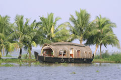 Houseboat. On backwaters in kerala, india Royalty Free Stock Photo