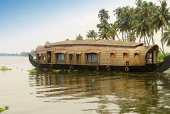 Houseboat. A houseboat in the backwaters of Kerala, India Royalty Free Stock Photo