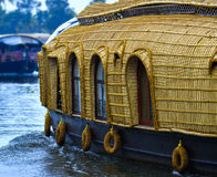 Houseboat. In Alleppy kerala backwater. Tourist typically spend night in such s in backwater Royalty Free Stock Photos