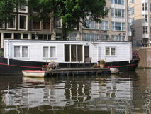 Houseboat in Amsterdam Royalty Free Stock Images