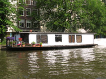 Houseboat in Amsterdam, Holland Royalty Free Stock Photo