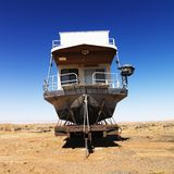 Houseboat in Arizona desert. Stock Photography