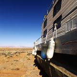 Houseboat in Arizona desert. Royalty Free Stock Images