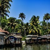 Houseboat. Awesome houseboat stay, Heaven on the earth beutifull Kerala India Royalty Free Stock Images