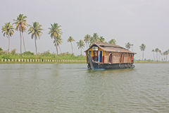 Houseboat in backwater of Kerala Stock Photos