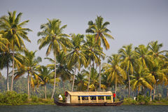 Houseboat in backwater of Kerala Royalty Free Stock Photography